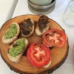 assortment of crostini