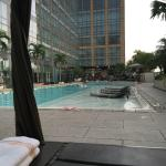 Pool and Bar view from cabana