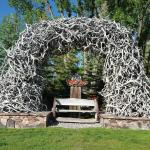 Rustic Inn Elk Arch - will be lit up at night