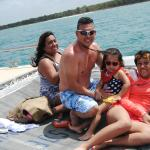 On the yacht on our way to Saona Island
