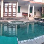 View of the private pool in our 3 bedroom villa. Very nice, very spacious.