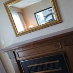 Fireplace feature in the Room