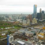 View over Melbourne to the Bay