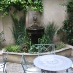 Courtyard at Hotel de l'Abbaye Saind-Germain
