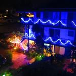 At night, the Garden Inn lights up!