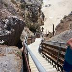Stairs to the beach below