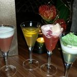Quirky mini size cocktails