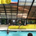 Inside pool with Slides
