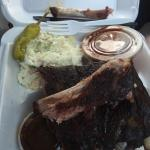 1/2 rack plate. First stop on the Memphis BBQ/fried chicken odyssey