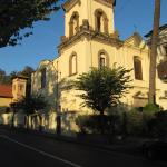 View of old monastery bulding from the street