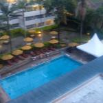 Balcony View of the Pool area