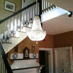 Crystal Chandelier in the Parlor