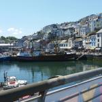 Brixham harbour side view