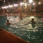 My kids at the indoor pool