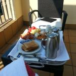 Breakfast in the balcony