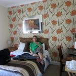 my son in his room at Rose Park House B&B