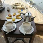 Snack on the houseboat
