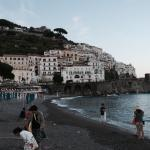 View of Amalfi and it's beach