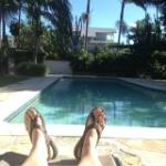 Just kicking back and reading by the pool :o)