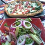 Fresh salad and homemade pizza available