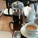 Morning French-press coffee