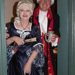 Innkeepers in costume for Chanceford Hall event.