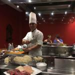 At the hibachi restaurant