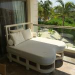 Balcony chaise lounge sofa