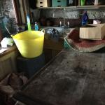 A dirty common area - would you want to eat food made in this house?