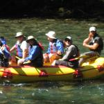 High County Expeditions rafting past the lodge constantly!