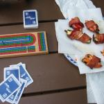 Cribbage and poppers (bacon, jalapeno pepper, cream cheese)