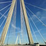 While driving on the Ravenel Bridge, Charleston SC