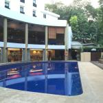 Poolside, gym and restaurant (level 2)