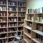 Never run short of reading material with their well-stocked, free library corner.