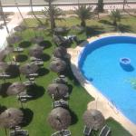 Pool view from room 509