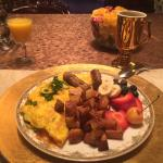 Breakfast the first day - omelet