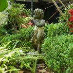 cherub in courtyard