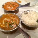 Lamb & Butter chicken with jasmine rice! Delicious!!!