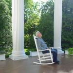 Relaxing on the Portico