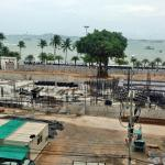 Another view to the construction site to the beach