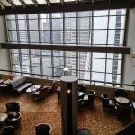 The executive lounge on the 28th floor