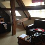 The sitting area in the attic suite