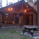 The cabin in the evening
