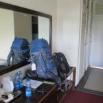 room and my backpack