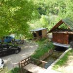 Room overlooking a small stream, parking and donkey stable