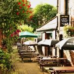 View of beergarden down to the river wear