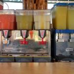Soft drinks at the Pool Bar