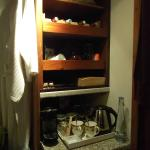 Selection of teas and other refreshments in our room.