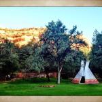 Morning stroll. Such an adorable teepee! I would've stayed in there! Haha