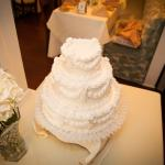 The wedding cake created by the Majestic Hotel.